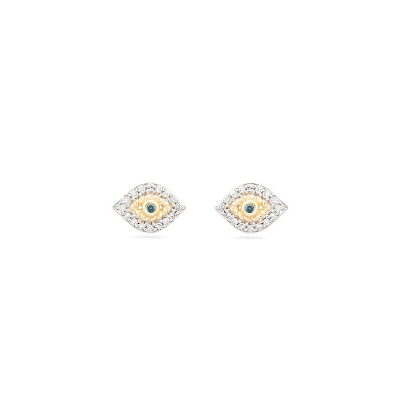 ADINA REYTER Super Tiny Pave Evil Eye Posts