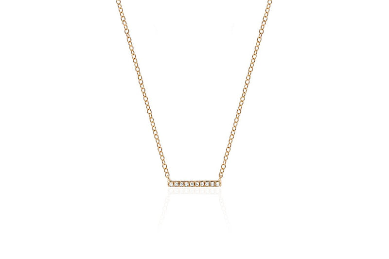 E F COLLECTION 14k Mini Bar Necklace