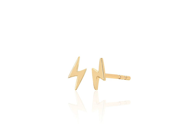 E F COLLECTION Gold Mini Lightening Bolt Ear