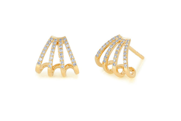 Diamond Multi Huggie Earrings