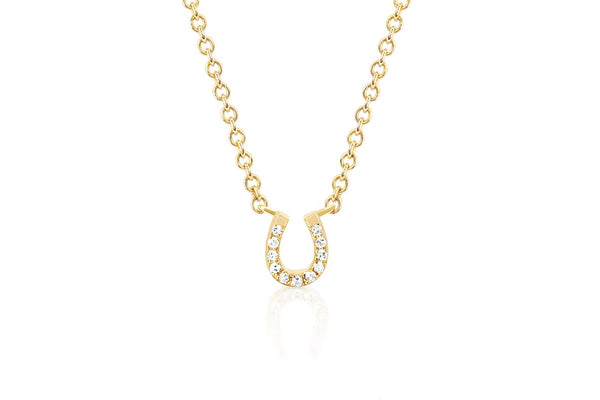 Diamond Mini Horseshoe Choker Necklace