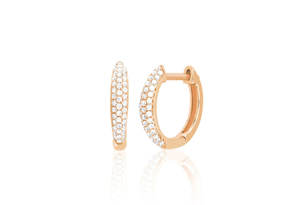 Diamond Dome Mini Huggie Earrings