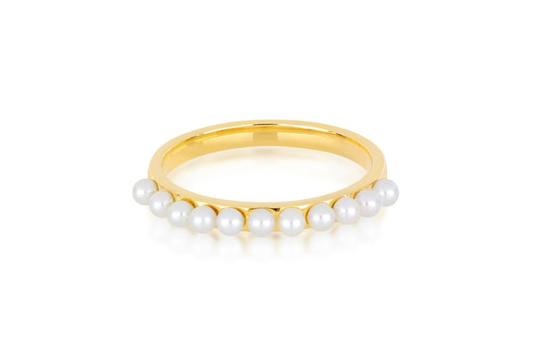 Multi Pearl Stack Ring