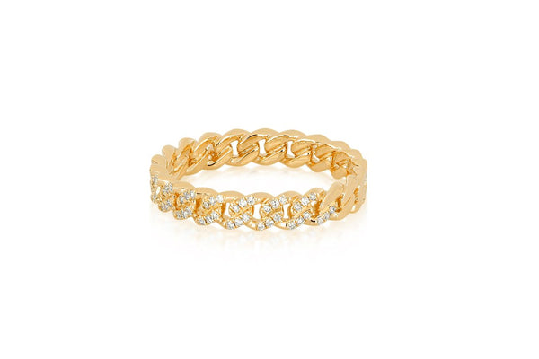 Diamond Mini Curb Chain Ring