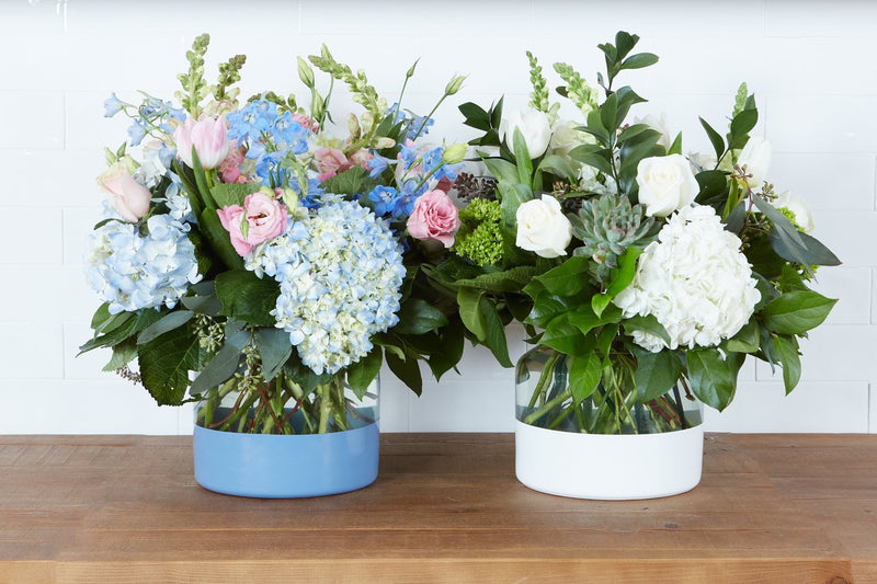 Denim Colorblock Flower Vase