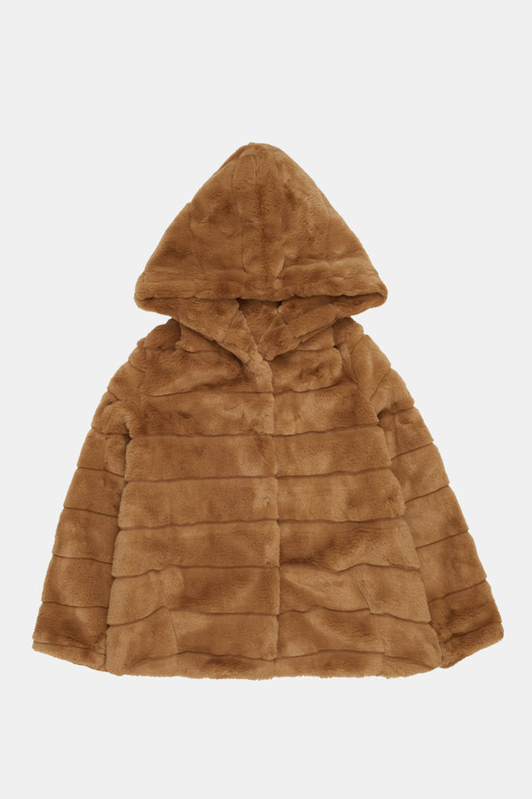 APPARIS Goldie Faux Fur Jacket - Camel