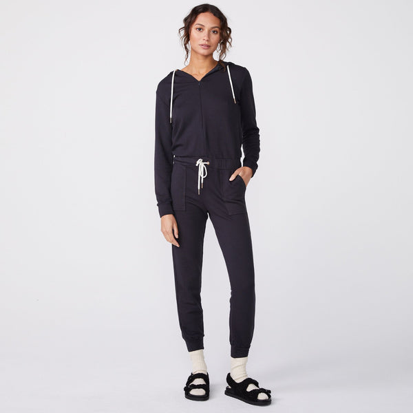 MONROW Fleece Hooded Jumpsuit