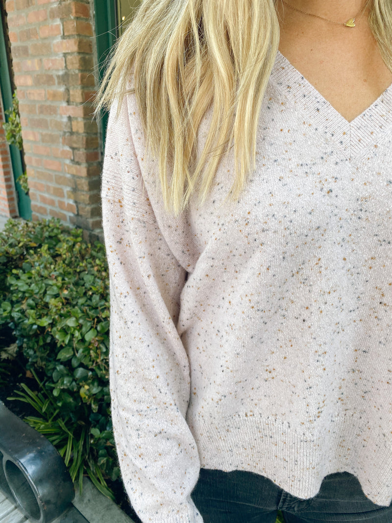 AUTUMN CASHMERE Relaxed Vneck Sweater