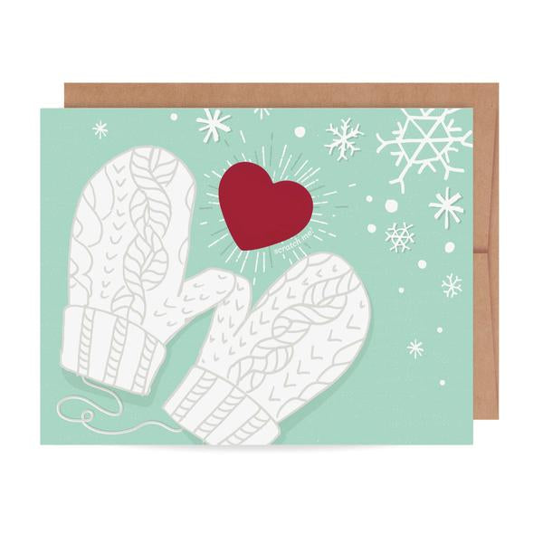 Mittens Scratch Off Greeting Card