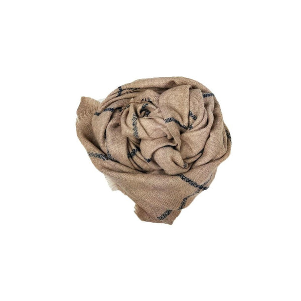 Windowpane Scarf - Blush