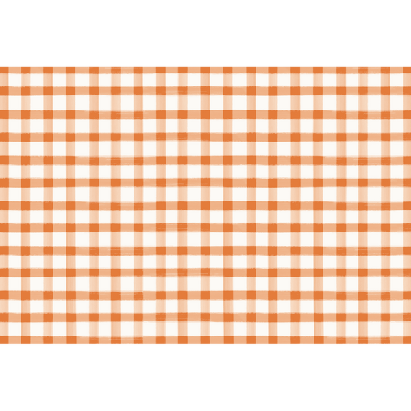 HESTER & COOK Orange Check Placemat