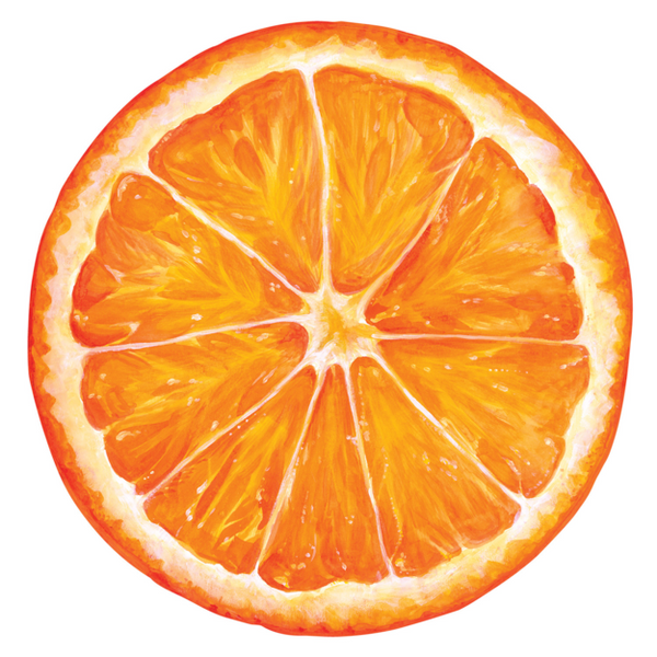 HESTER & COOK Die Cut Orange Slice Placemat
