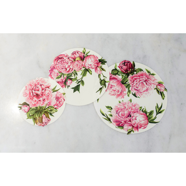 HESTER & COOK Peony Serving Papers