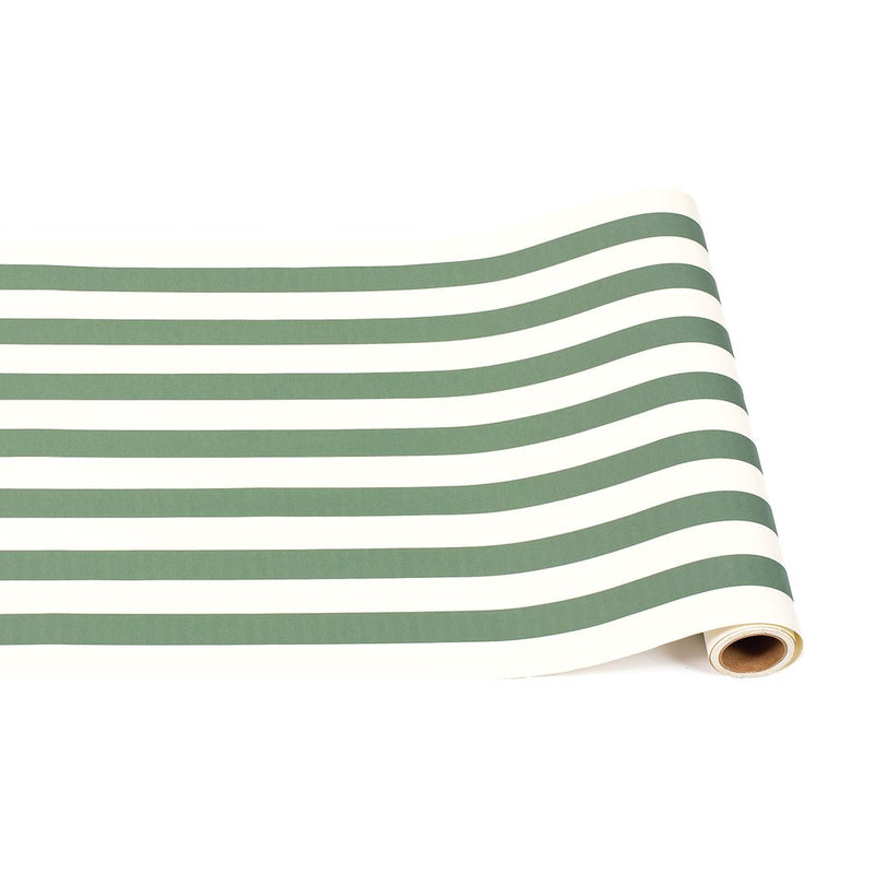 HESTER & COOK Dark Green Classic Stripe Runner