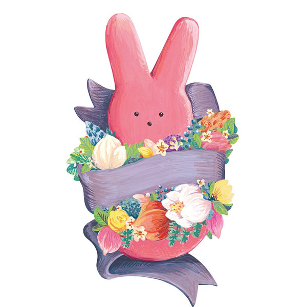 HESTER & COOK Die-Cut PEEPS Bunny Table Accent
