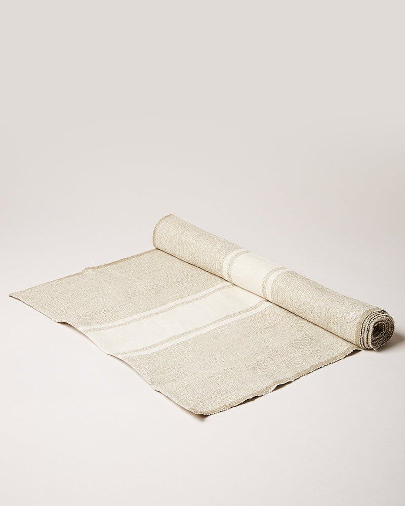FARMHOUSE POTTERY Handloom Stripe Cream Runner