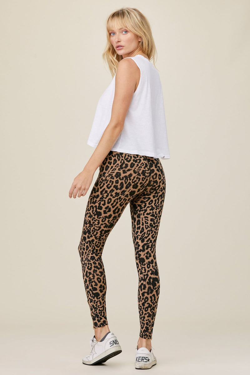 LNA Leopard Zipper Legging