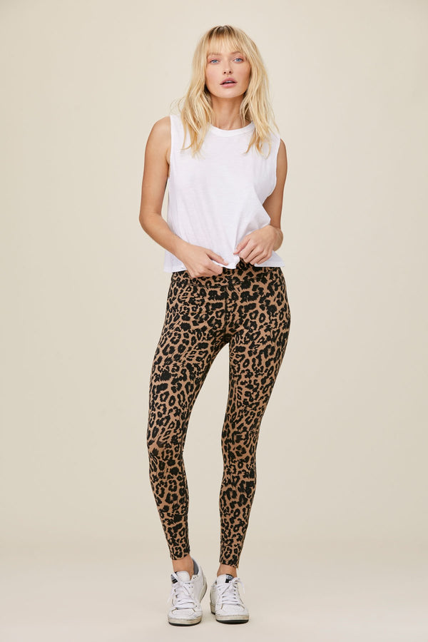Leopard Zipper Legging