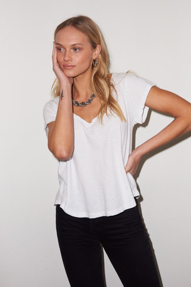 Essential Cotton Kaden V Neck Tee