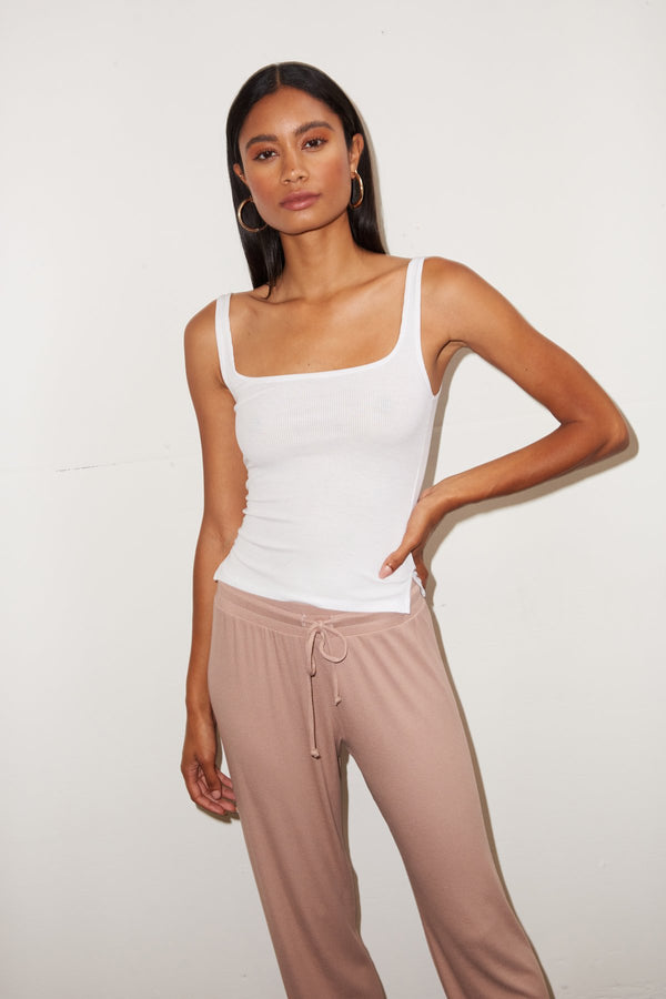 LNA Essential Ribbed Scoop Tank