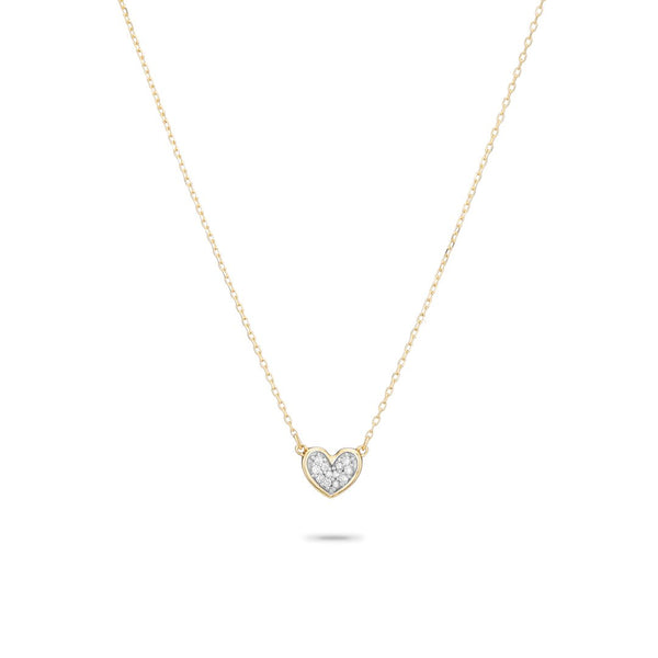 ADINA REYTER Super Tiny Pave Folded Heart