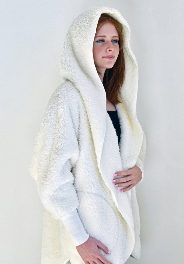 Hooded Cozy Cardigan - Nordic Snow