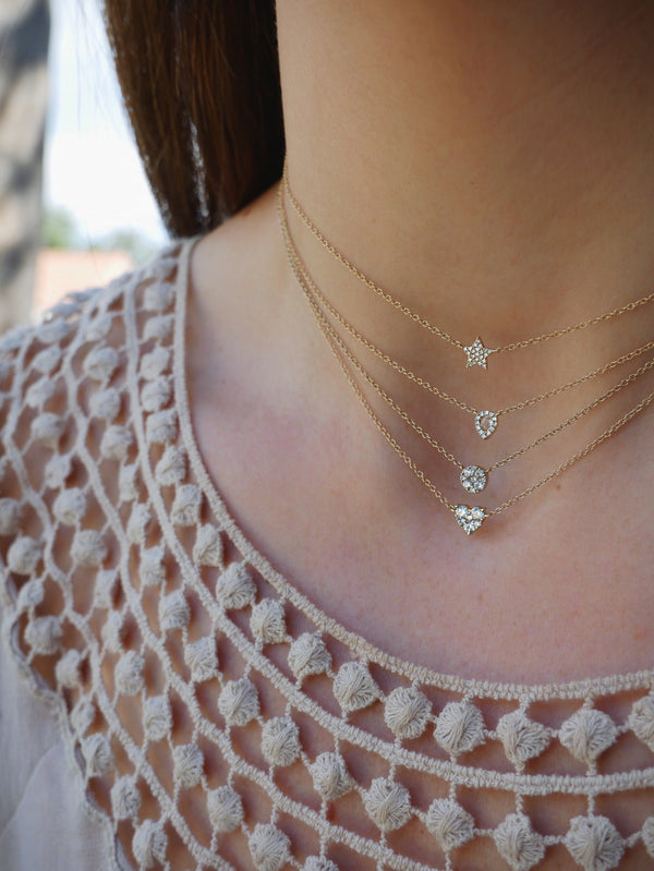 E F COLLECTION Diamond Star Choker Necklace