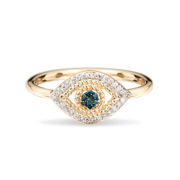 ADINA REYTER Tiny Pave Evil Eye Ring