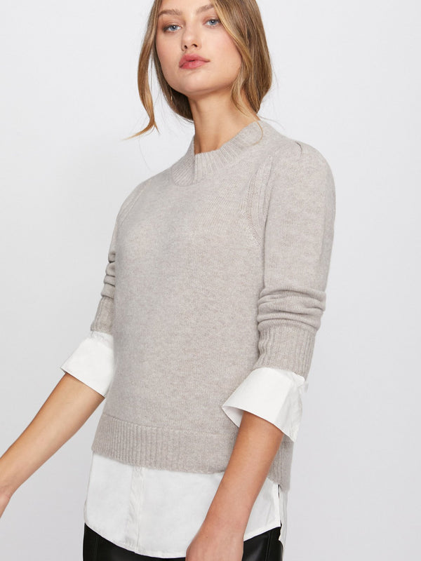 BROCHU WALKER Eton layered looker Sweater