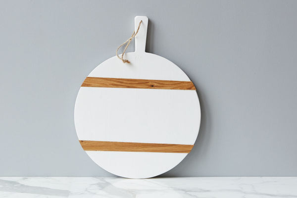 ETUHOME White Round Mod Charcuterie Board- Medium
