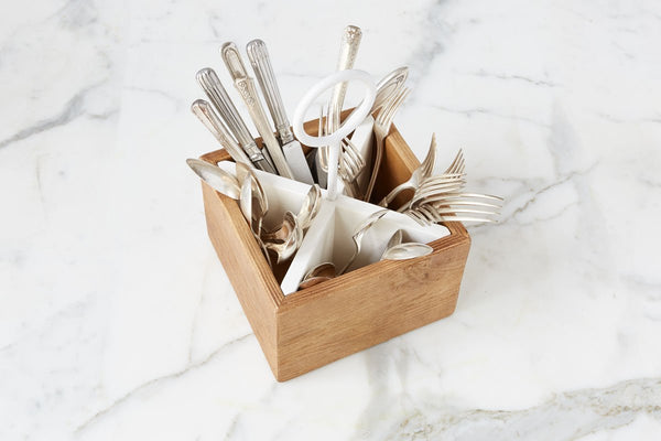 ETU HOME Bianca Silverware Caddy
