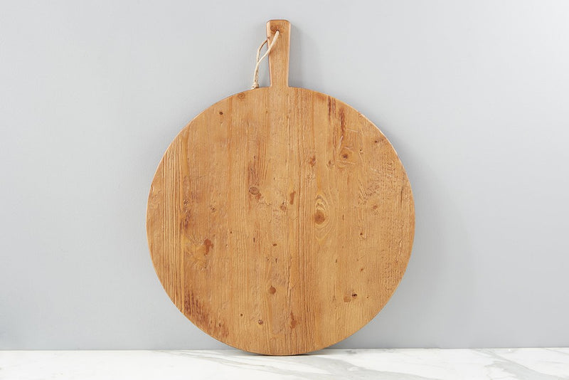 Round Pine Charcuterie Board - large
