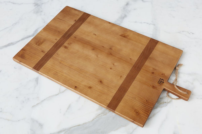 ETUHOME Rectangle Pine Charcuterie Board, Large