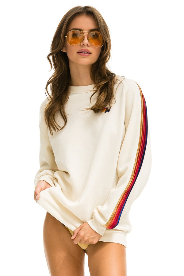 AVIATOR NATION Classic Sweatshirt with velvet stripes