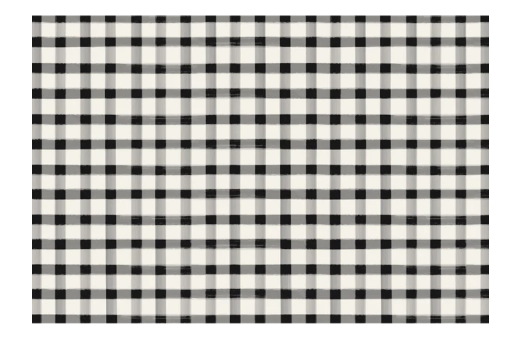 HESTER & COOK Black Painted Check Placemat