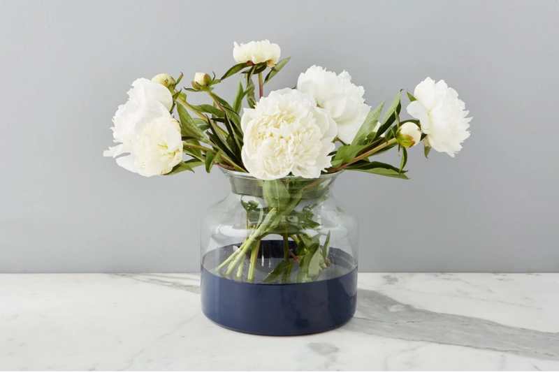 Navy Colorblock Vase