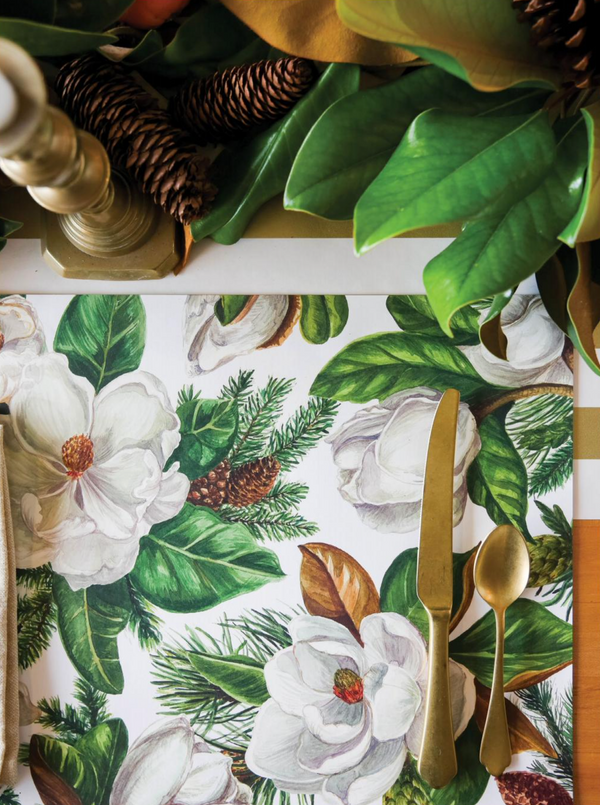 HESTER & COOK Magnolia Blooms Placemat