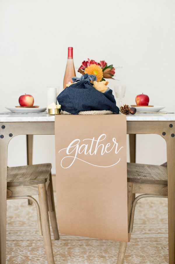 HESTER & COOK Plain Kraft Paper Table Runner