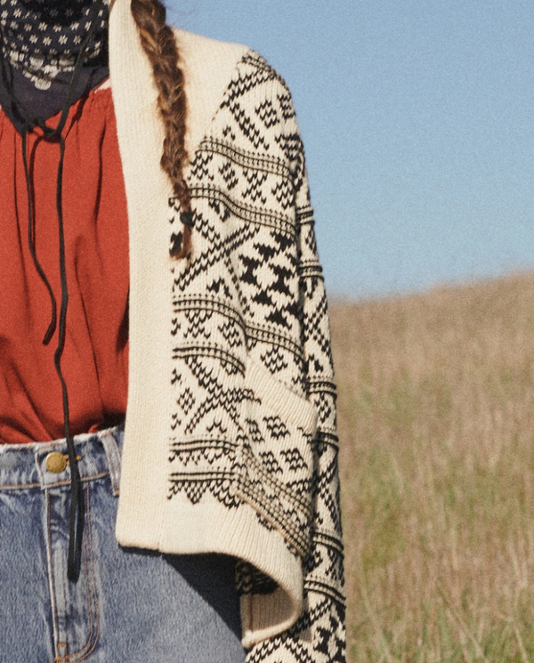 THE GREAT The Fair Isle Lodge Cardigan