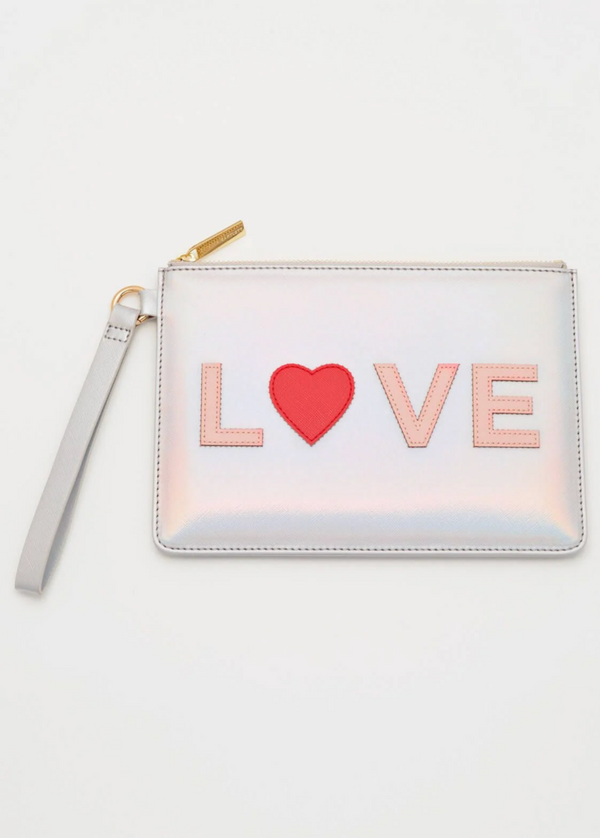 Love Applique Medium Pouch