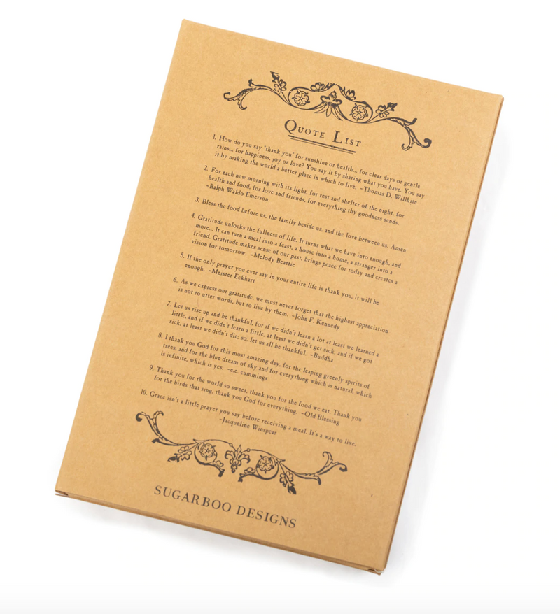 Set of 10 Gratitude Napkins