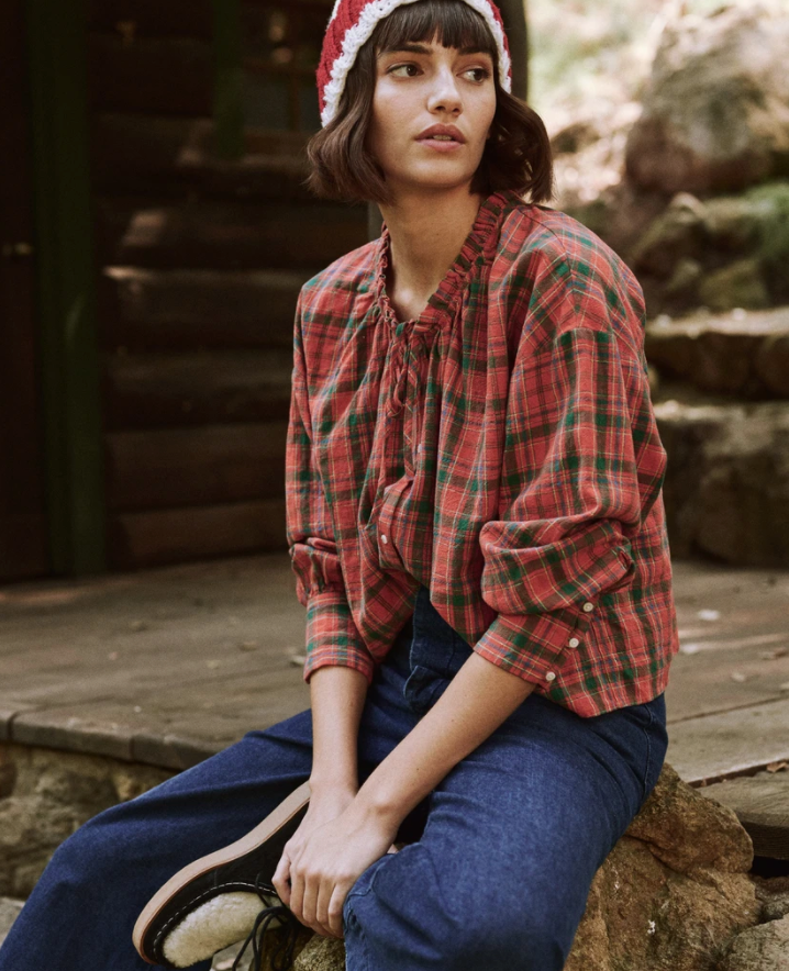 The Forage Top - Holly Plaid