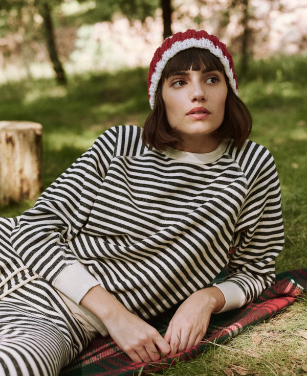 The College Sweatshirt - Stocking Stripe