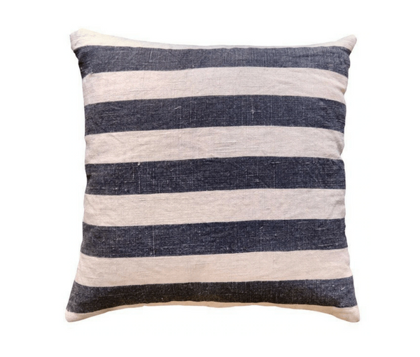 Black Stripes Linen Pillow