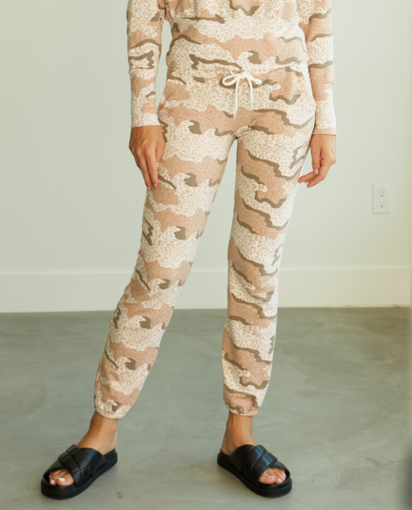 Fleece Leopard Camo Sweatpants