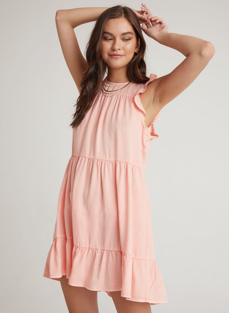 Ruffle Sleeve Tiered Dress