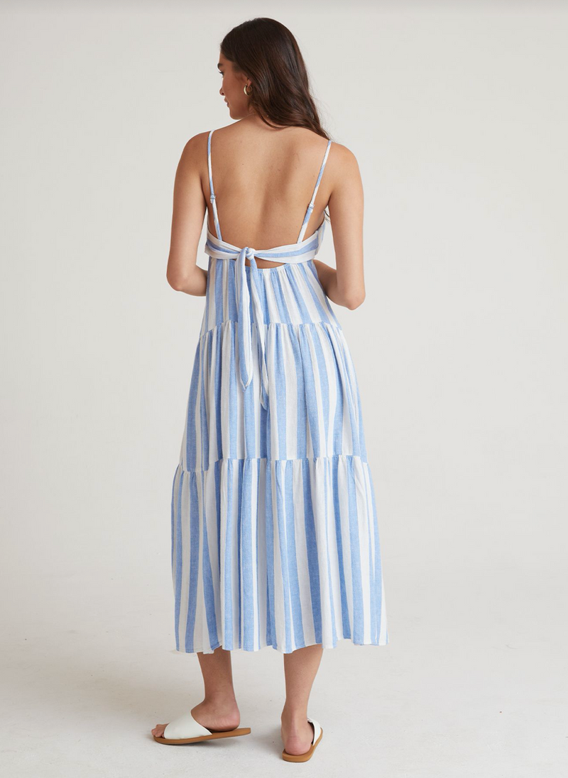 Tiered Tie Back Maxi Dress