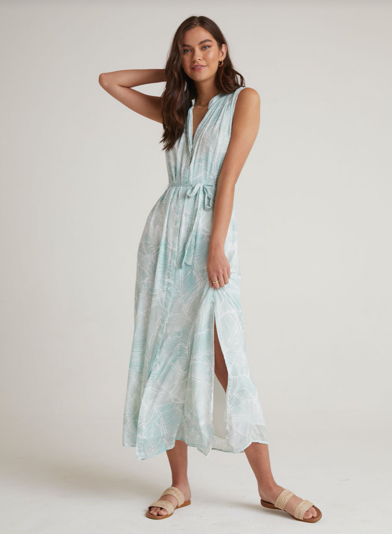 Pleat Front Maxi Dress