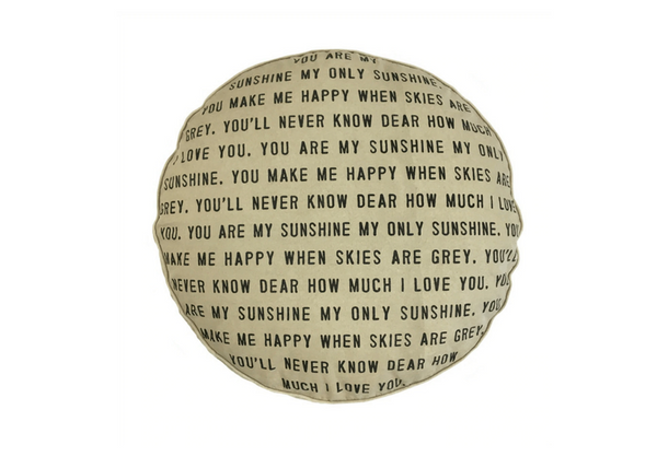 You Are My Sunshine Floor Pouf or Dog Bed