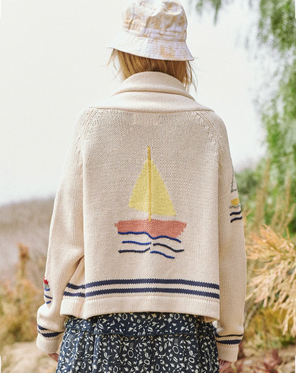 THE GREAT The Harbor Cardigan
